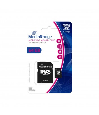 MICRO SDXC CARD 64 GB CL10 ADAPT