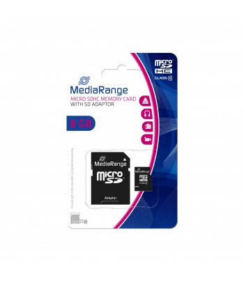 MICRO SDHC CARD 8 GB CL10 ADAPT