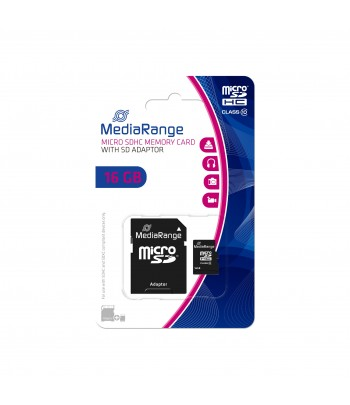 MICRO SDHC CARD 16 GB CL10 ADAPT