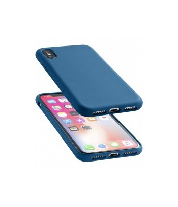 CUSTODIA SOFT TOUCH  IPH X BLU